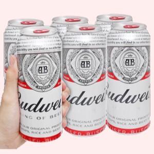 6 lon bia Budweiser 500ml