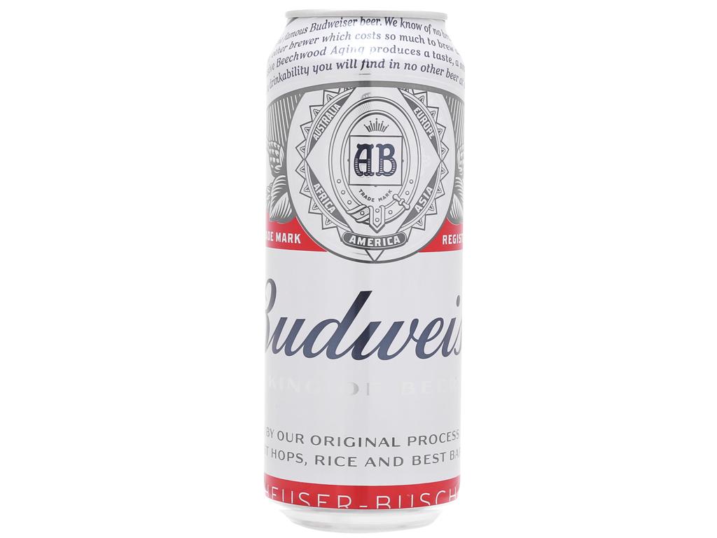 6 lon bia Budweiser 500ml 2