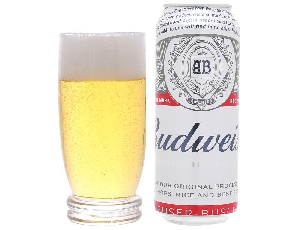 6 lon bia Budweiser 500ml 11