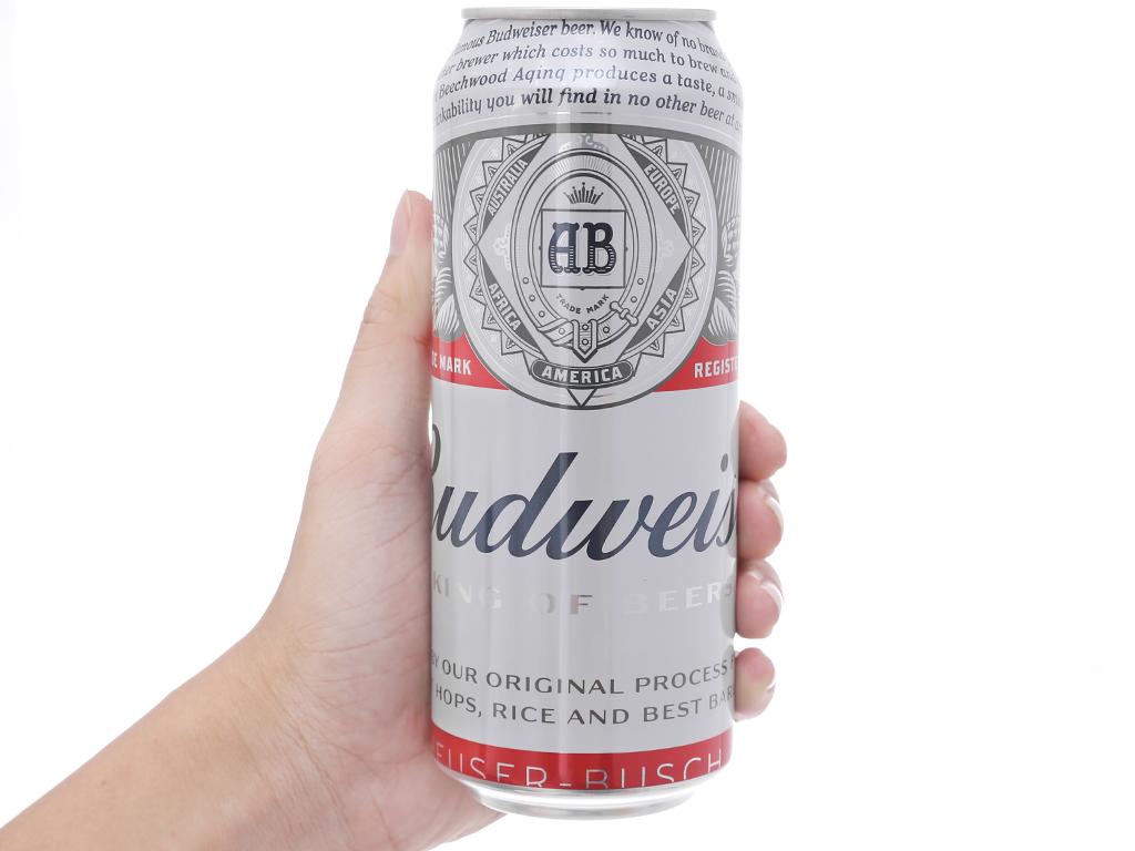 6 lon bia Budweiser 500ml 4