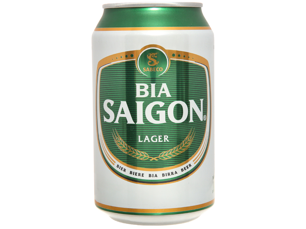 6 lon Bia Sài Gòn Lager 330ml 2