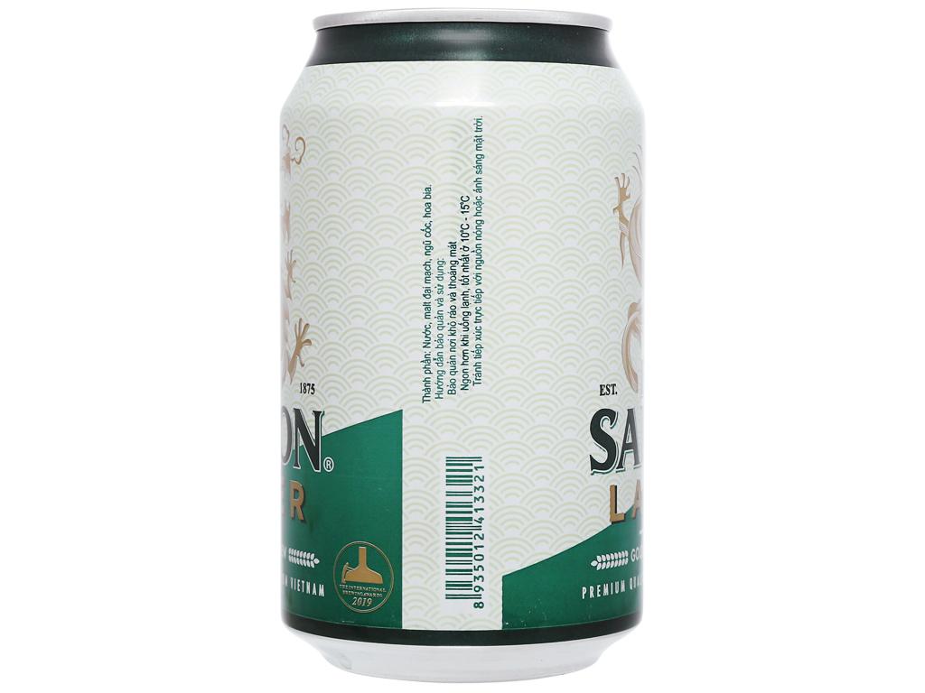 6 lon bia Sài Gòn Lager 330ml 7