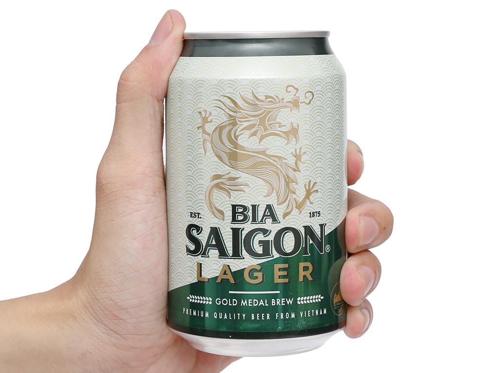 6 lon bia Sài Gòn Lager 330ml 15