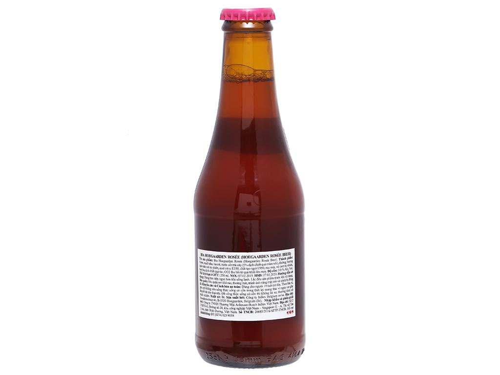 6 chai Hoegaarden Rosee 250ml 2