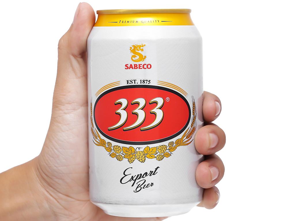 6 lon bia 333 330ml 6