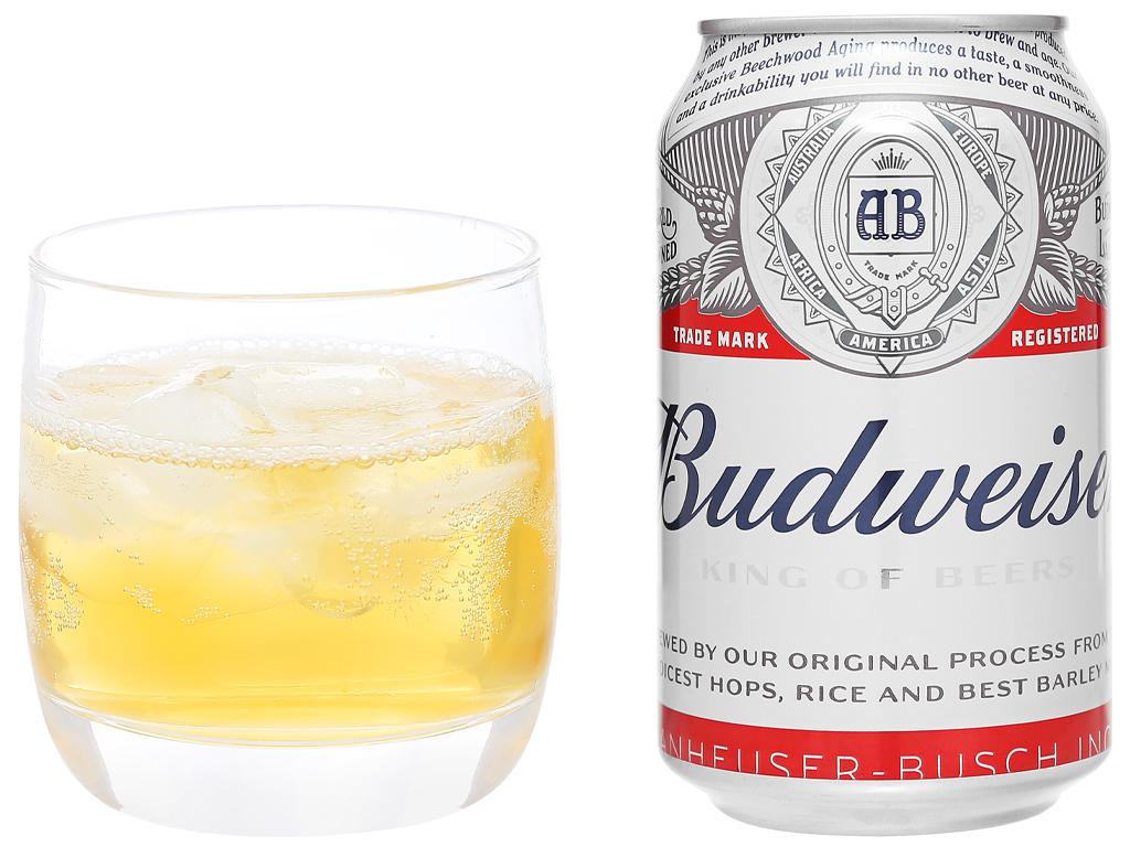 6 lon bia Budweiser 330ml 6