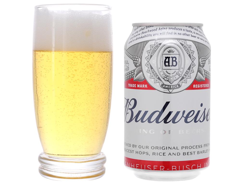 6 lon bia Budweiser 330ml 4