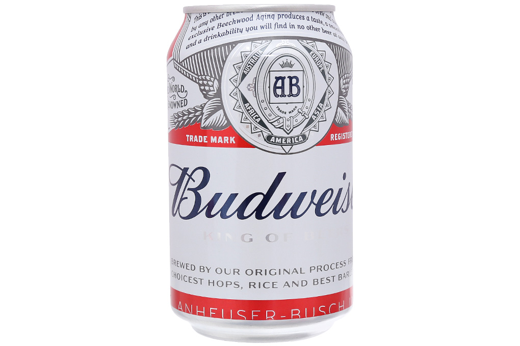 6 lon bia Budweiser 330ml 2