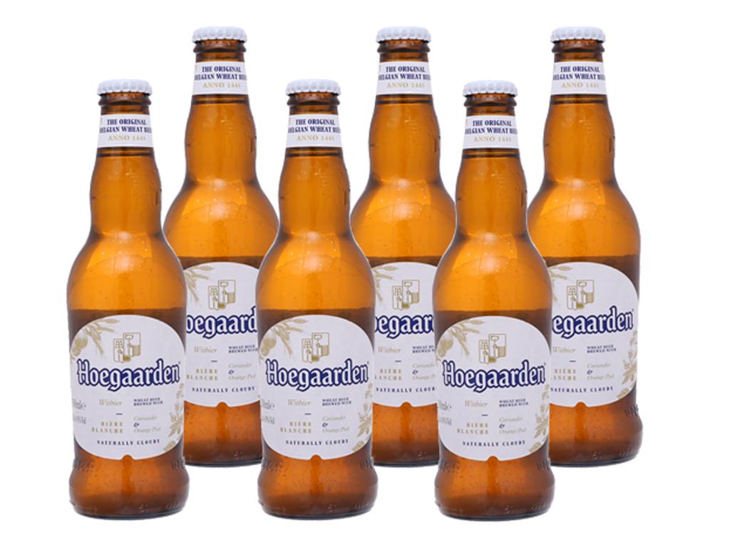 6 chai bia Hoegaarden 330ml 1