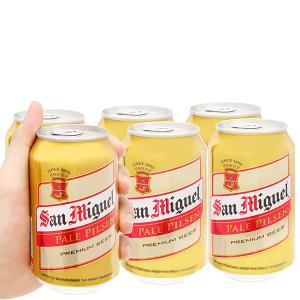 6 lon San Miguel Pale Pilsen 330ml