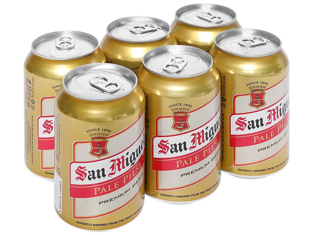 6 lon San Miguel Pale Pilsen 330ml 1