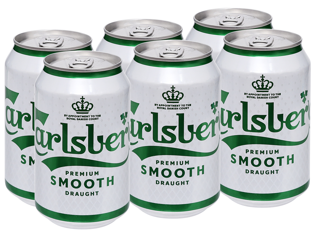 6 lon bia Carlsberg Smooth Draught 330ml 5