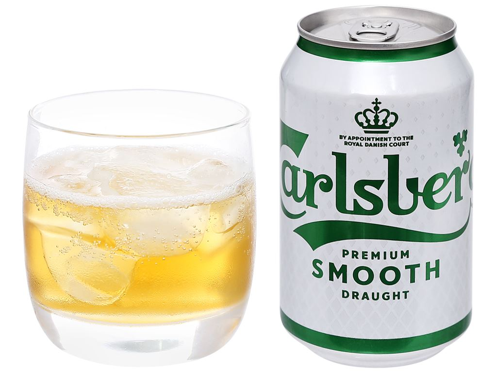 6 lon bia Carlsberg Smooth Draught 330ml 10