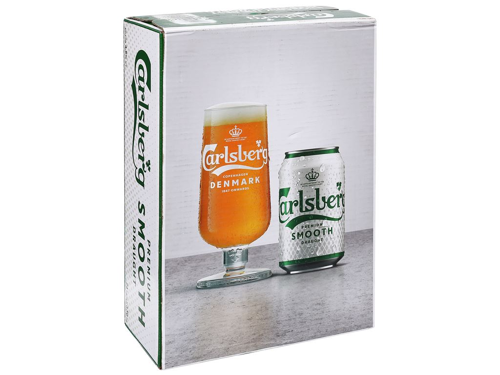 Thùng 24 lon bia Carlsberg Smooth Draught 330ml 4