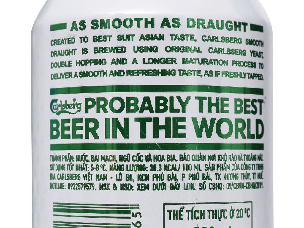 Thùng 24 lon bia Carlsberg Smooth Draught 330ml 8