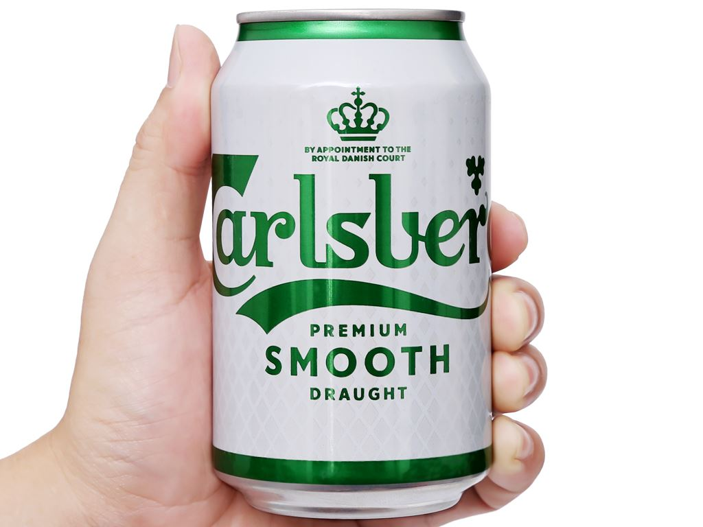Thùng 24 lon bia Carlsberg Smooth Draught 330ml 9