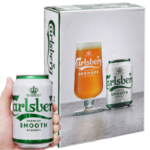 Thùng 24 lon bia Carlsberg Smooth Draught 330ml