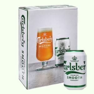 Thùng 24 lon bia Carlsberg Smooth Draught 330ml
