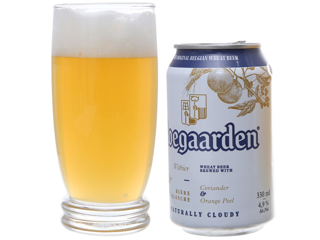 Bia Hoegaarden White lon 330ml 3