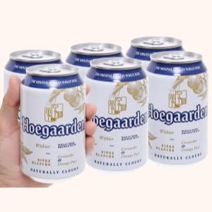 6 lon Hoegaarden White 330ml