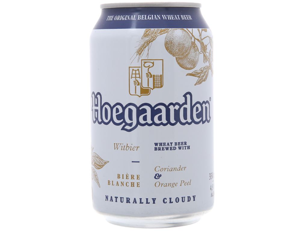 6 lon Hoegaarden White 330ml 2
