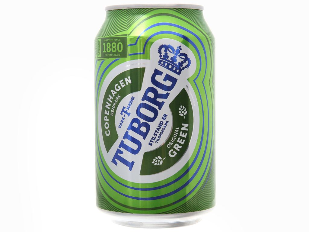 Thùng 24 lon bia Tuborg 330ml 2