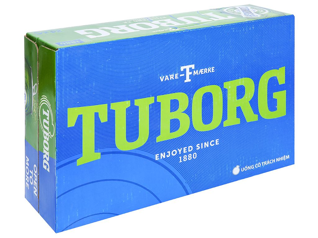 Thùng 24 lon bia Tuborg 330ml 1