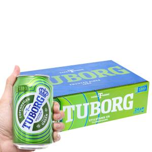 Thùng 24 lon bia Tuborg 330ml