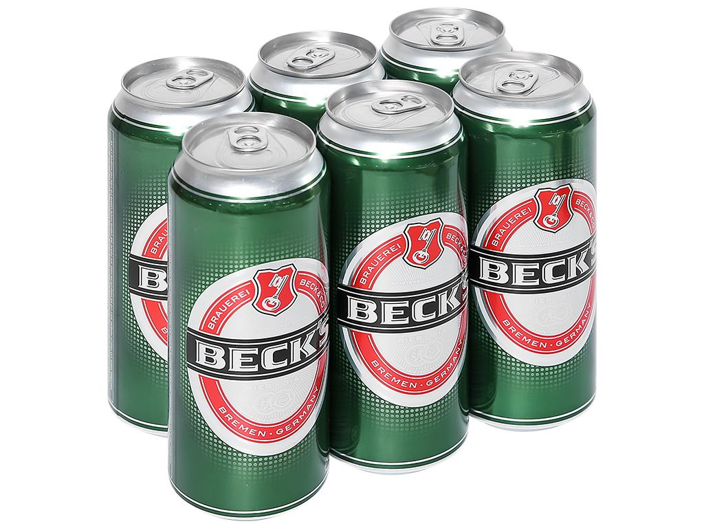 6 lon bia Beck's 500ml 1
