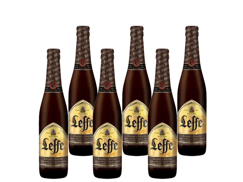 6 chai bia Leffe Brune 330ml 1
