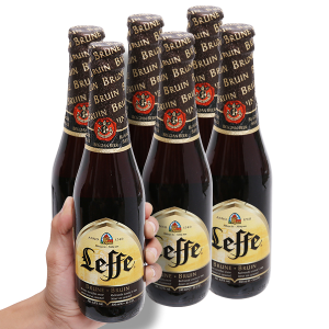 6 chai bia Leffe Brune 330ml