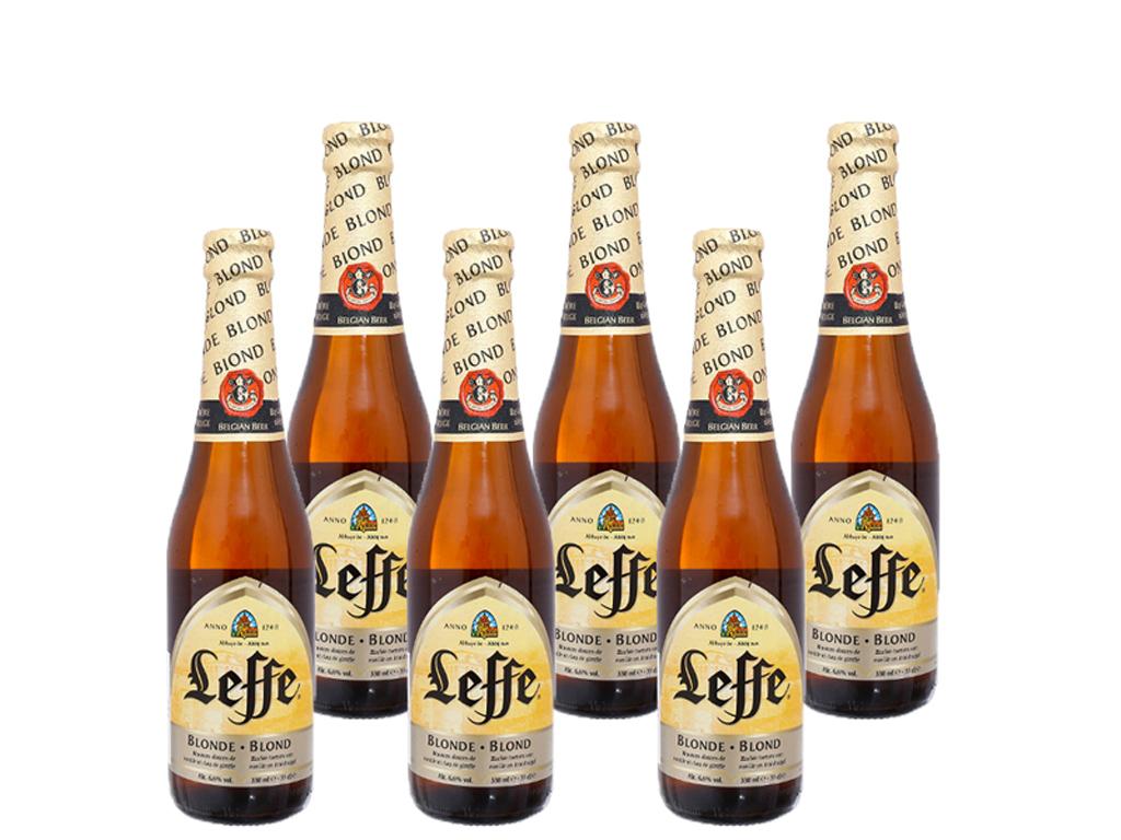 6 chai Bia Leffe Blonde 330ml 1