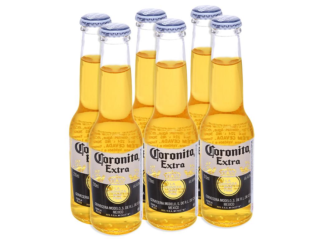 6 chai bia Coronita Extra 210ml 1