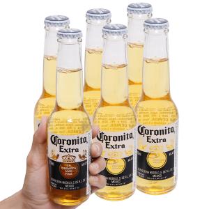 6 chai bia Coronita Extra 210ml