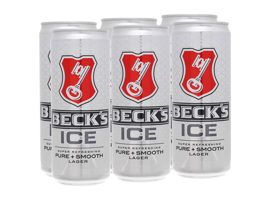 6 lon Bia Beck's Ice 330ml 1