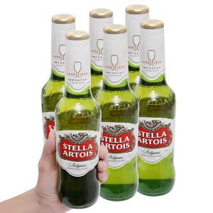6 chai bia Stella Artois 330ml
