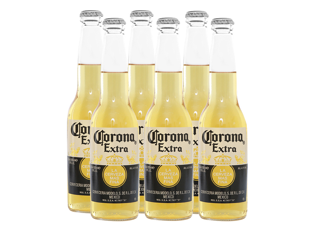 6 chai bia Corona Extra 355ml 1