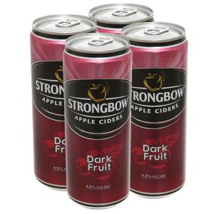 4 lon Strongbow dâu đen 330ml