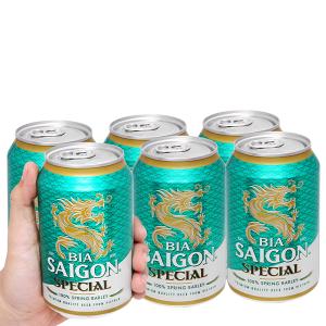 6 lon bia Sài Gòn Special 330ml