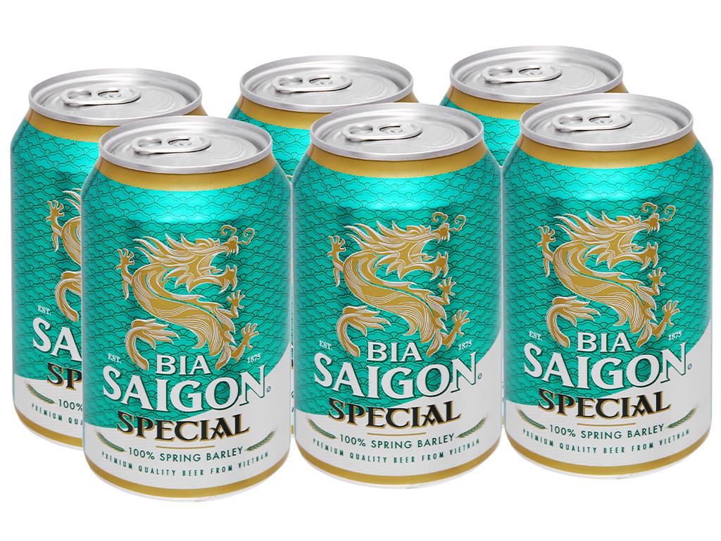 6 lon bia Sài Gòn Special 330ml 5