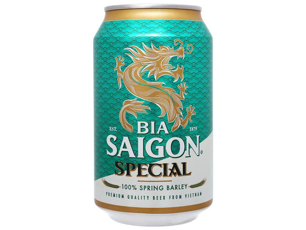 6 lon bia Sài Gòn Special 330ml 6