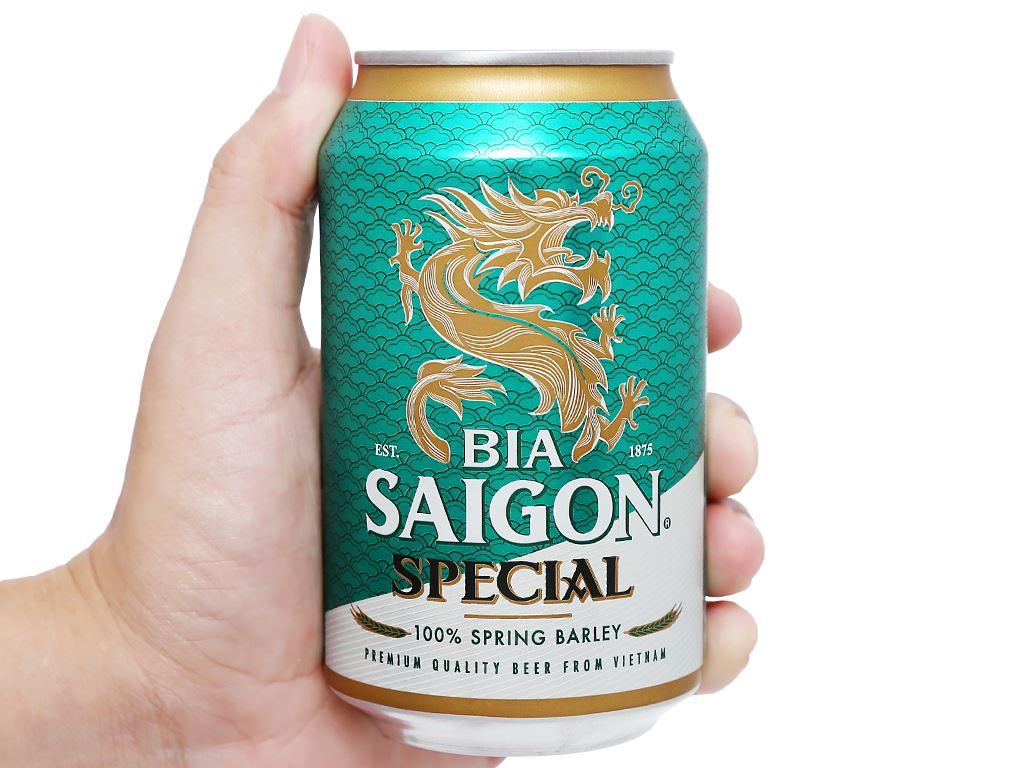 6 lon bia Sài Gòn Special 330ml 9
