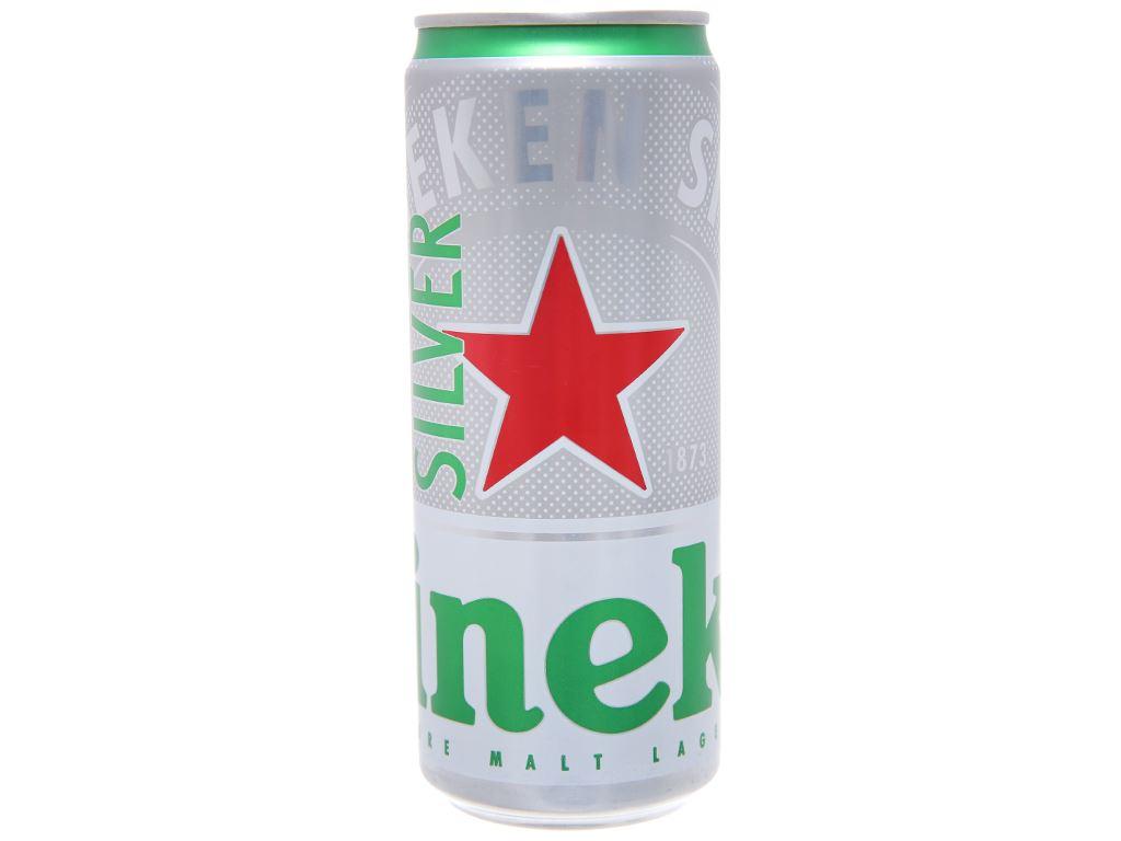 Bia Heineken Silver lon 330ml 1