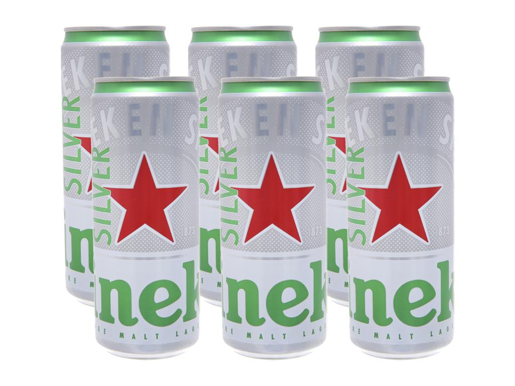 Lốc 6 lon bia Heineken Silver 330ml 1