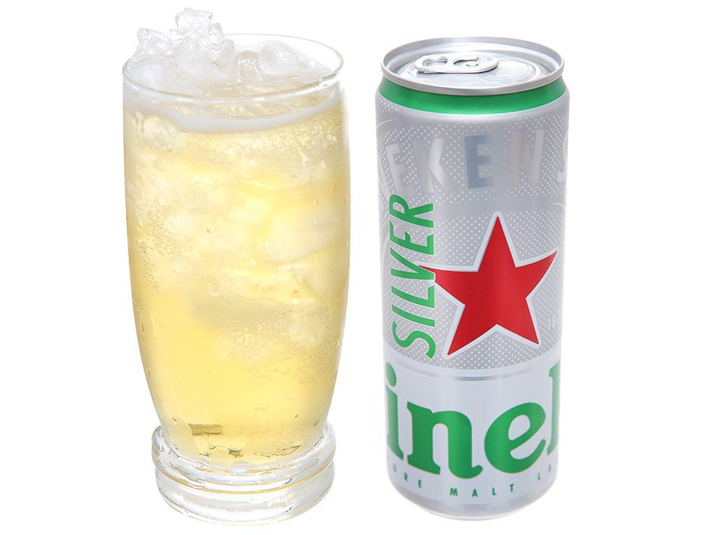 Thùng 24 lon bia Heineken Silver 330ml 6