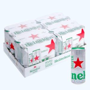 Thùng 24 lon bia Heineken Silver 330ml