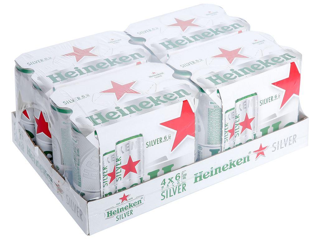 Thùng 24 lon bia Heineken Silver 330ml 1