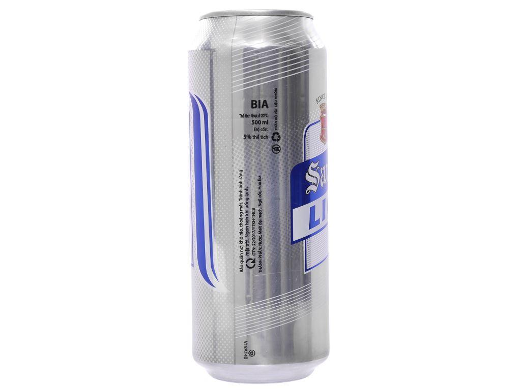 6 lon bia San Mig Light 500ml 3