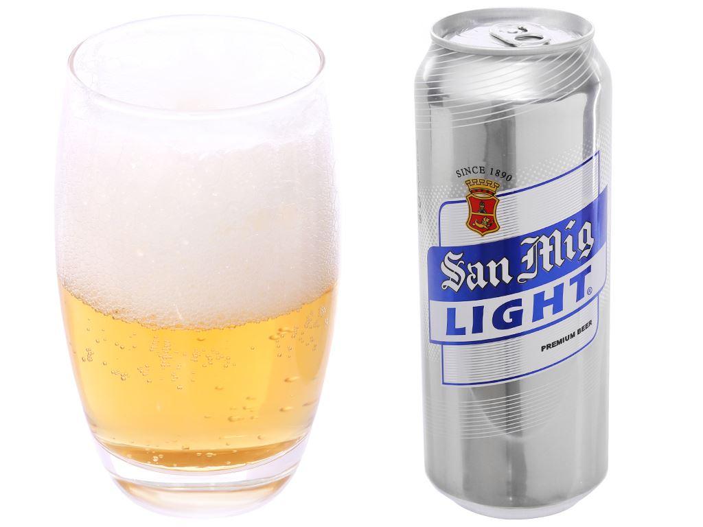6 lon bia San Mig Light 500ml 4