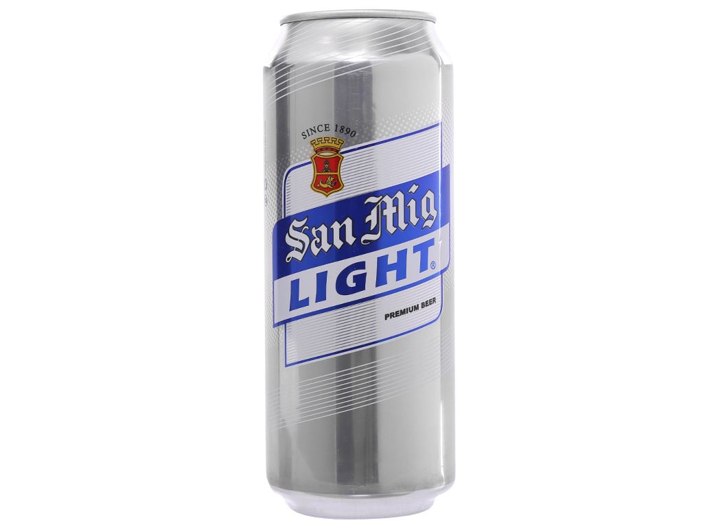 6 lon bia San Mig Light 500ml 2